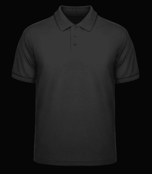Männer Poloshirt Pique - Schwarz - Vorn