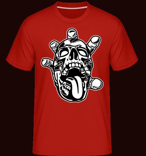 Skull Hand -  Shirtinator Men's T-Shirt - Red - Front
