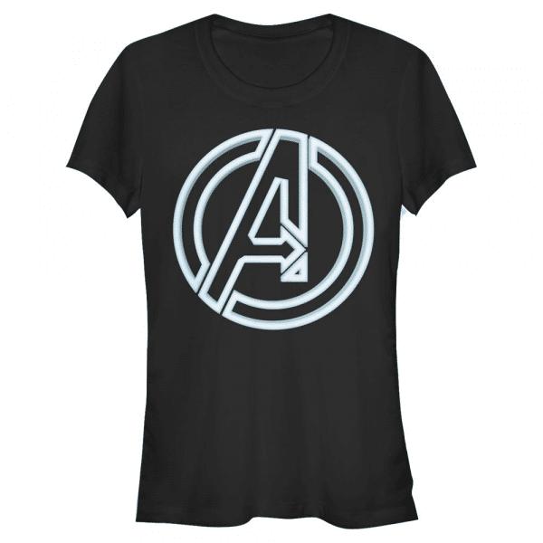 Avengers Glow Icon Logo - Marvel - Women's T-Shirt - Black - Front
