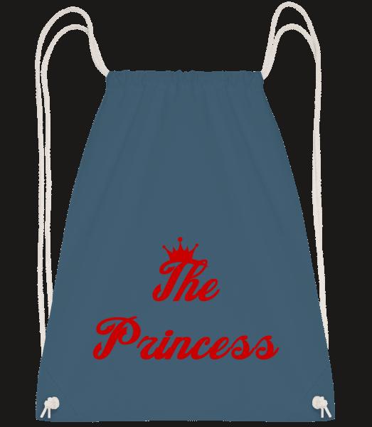 The Princess - Drawstring Backpack - Navy - Vorn