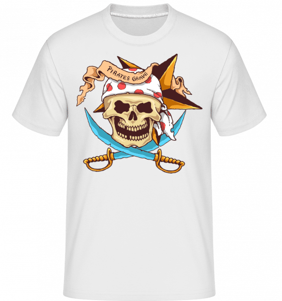 Pirate Grave -  Shirtinator Men's T-Shirt - White - Front