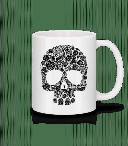 Flower Skull - Mug - White - Vorn