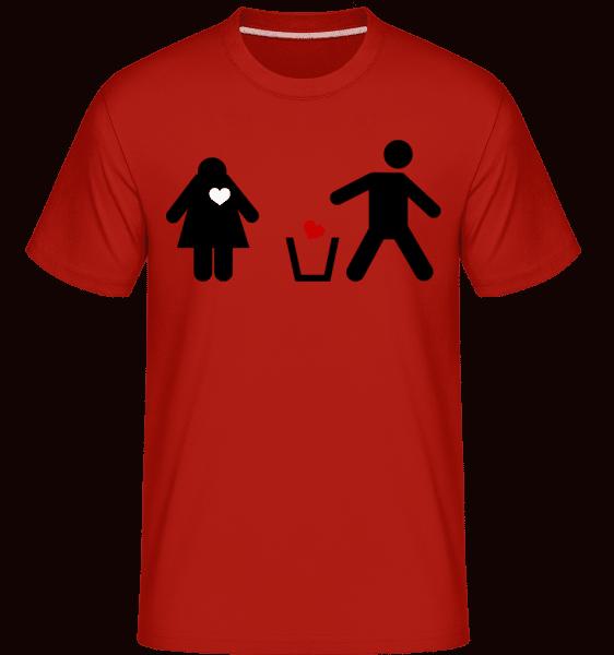 Heart Through Away Logo -  Shirtinator Men's T-Shirt - Red - Vorn