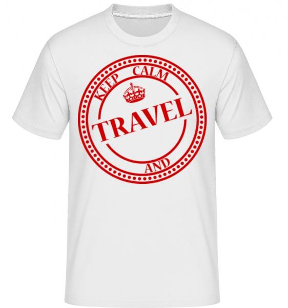 Keep Calm And Travel -  Shirtinator Men's T-Shirt - White - Front