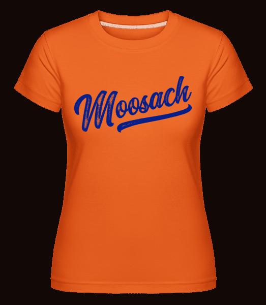 Moosach Swoosh - Shirtinator Frauen T-Shirt - Orange - Vorn