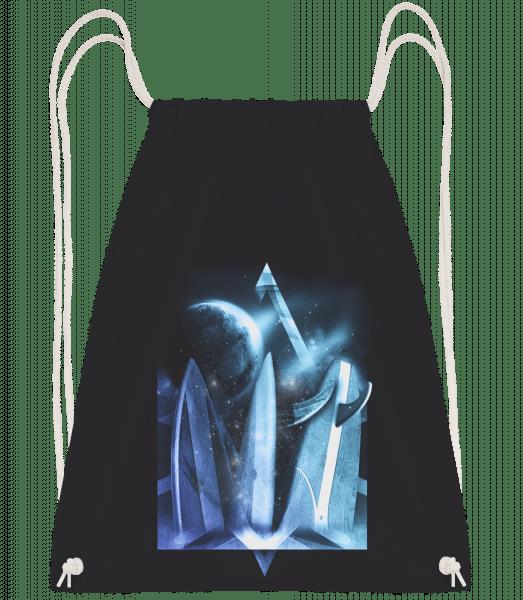 Surfer Heaven - Drawstring Backpack - Black - Vorn