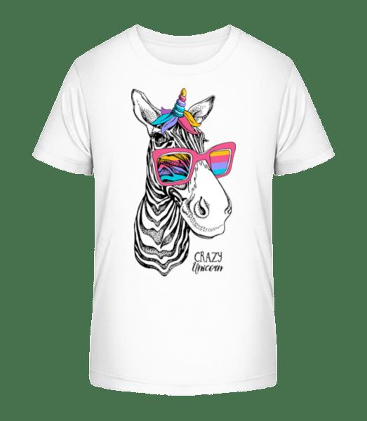 Crazy Unicorn - Kid's Premium Bio T-Shirt - White - Vorn