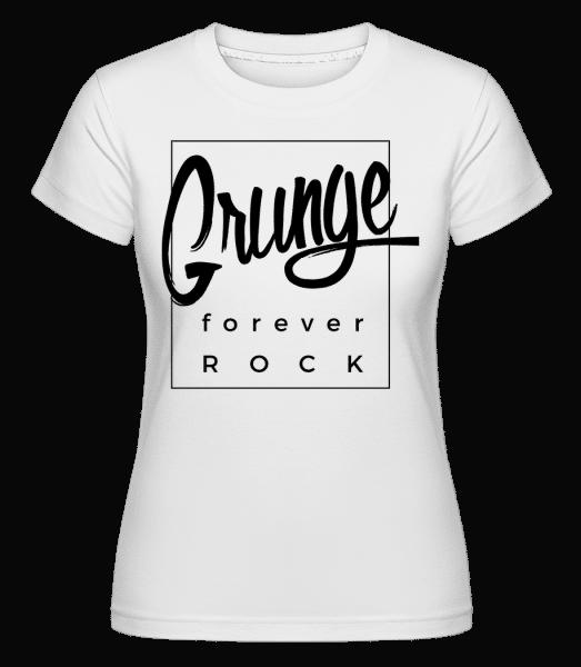 Grunge Forever Rock -  Shirtinator Women's T-Shirt - White - Vorn