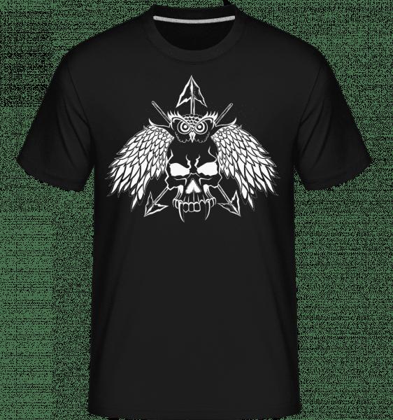 Tatouage Tête De Mort -  T-Shirt Shirtinator homme - Noir - Vorn
