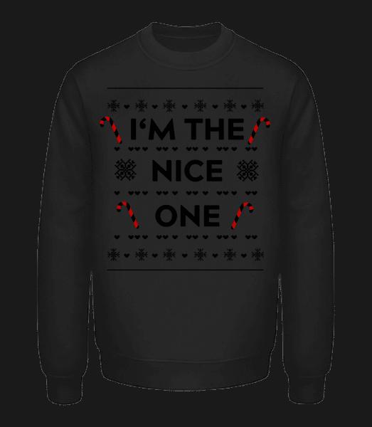 I'm The Nice One - Unisex Sweatshirt - Black - Vorn