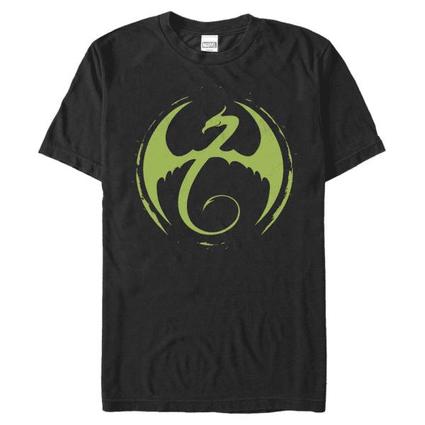 Iron Fist Logo - Marvel Defenders - Men's T-Shirt - Black - Front