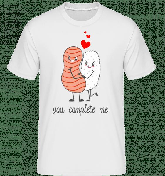 You Complete Me - Shirtinator Männer T-Shirt - Weiß - Vorn