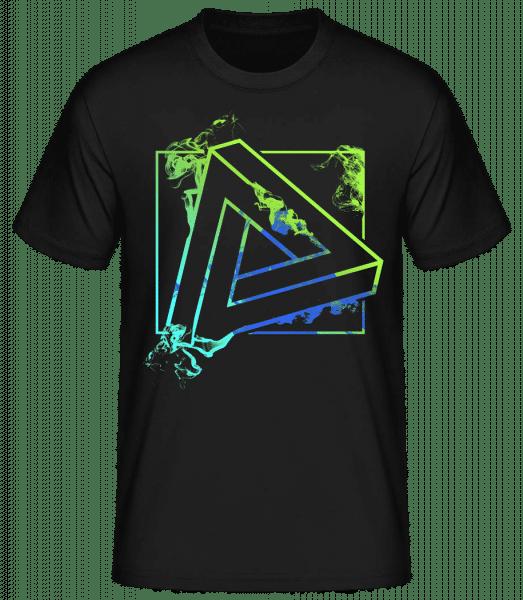Triangle impossible - T-shirt standard homme - Noir - Vorn