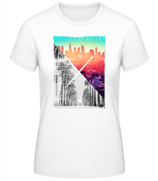 Los Angeles Dream - Basic T-Shirt - White - Vorn