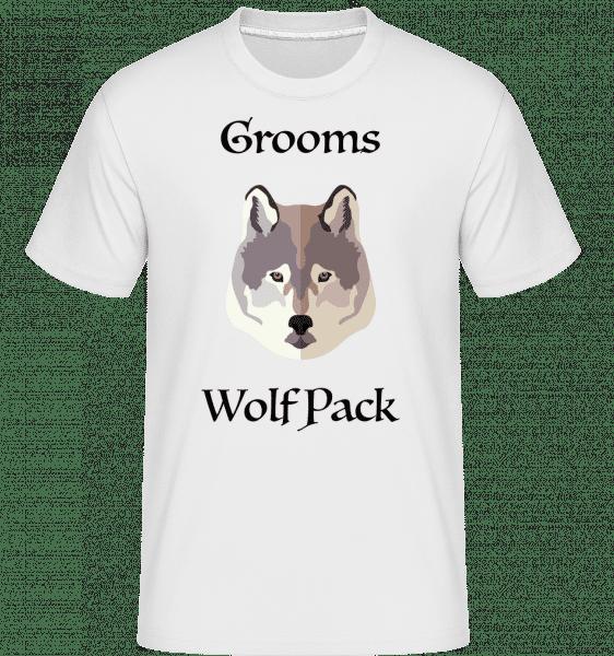 Grooms Wolf Pack -  Shirtinator Men's T-Shirt - White - Vorn
