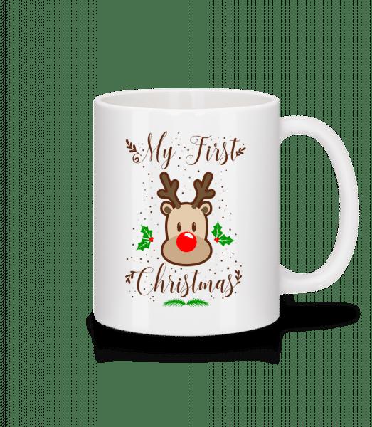 My First Christmas - Keramický hrnek - Bílá - Napřed