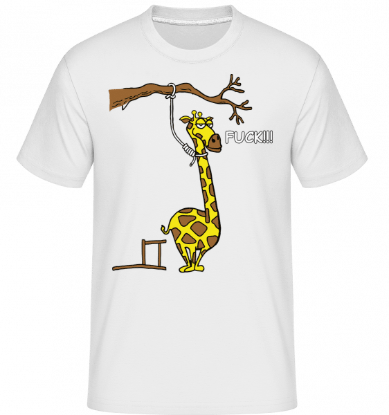 Suicidal Giraffe -  Shirtinator Men's T-Shirt - White - Vorn