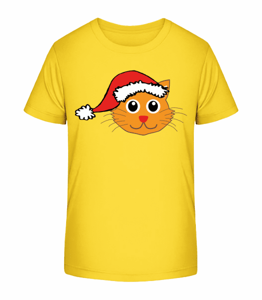 Santa Cat - Kid's Premium Bio T-Shirt - Yellow - Vorn