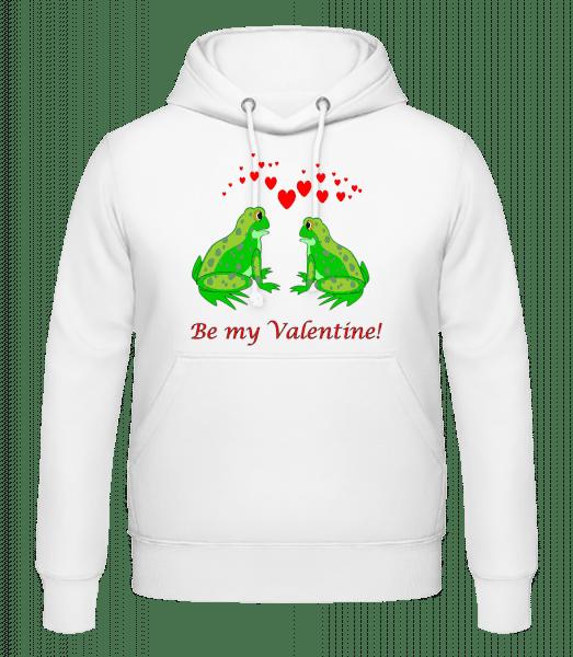 Frogs Be My Valentine - Men's Hoodie - White - Vorn