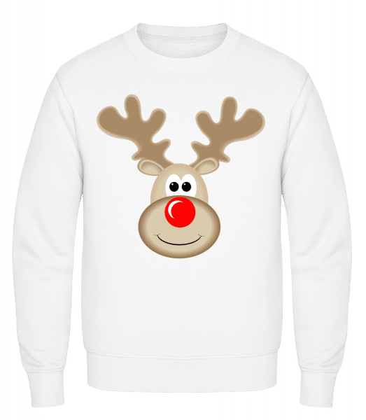 Reindeer Logo - Classic Set-In Sweatshirt - White - Vorn