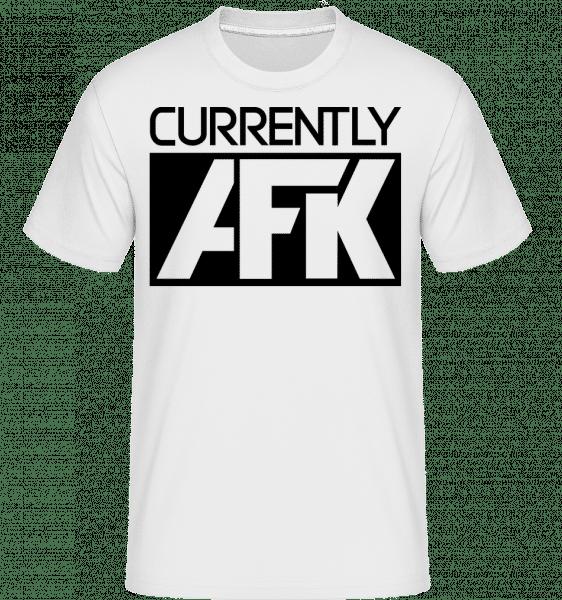 Currently AFK -  Shirtinator Men's T-Shirt - White - Vorn