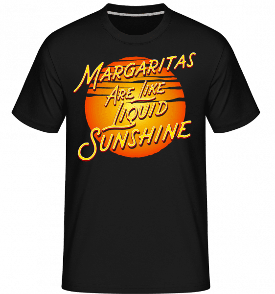 Margaritas Are Liquid Sunshine - Shirtinator Männer T-Shirt - Schwarz - Vorn