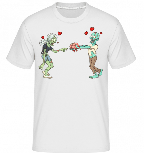 Zombies In Love -  Shirtinator Men's T-Shirt - White - Vorn
