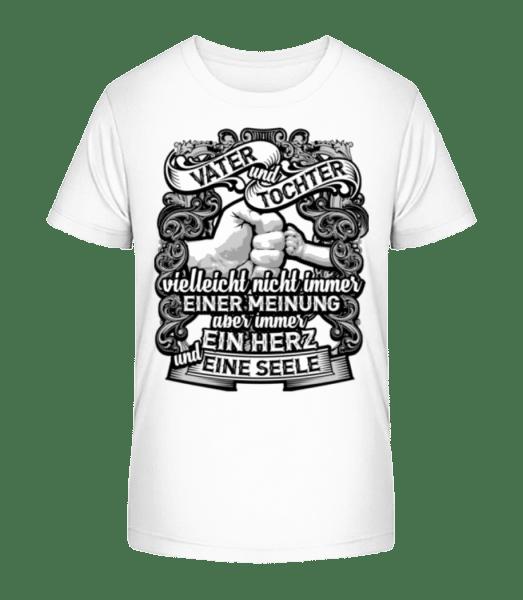Vater Und Tochter - Kinder Premium Bio T-Shirt - Weiß - Vorn