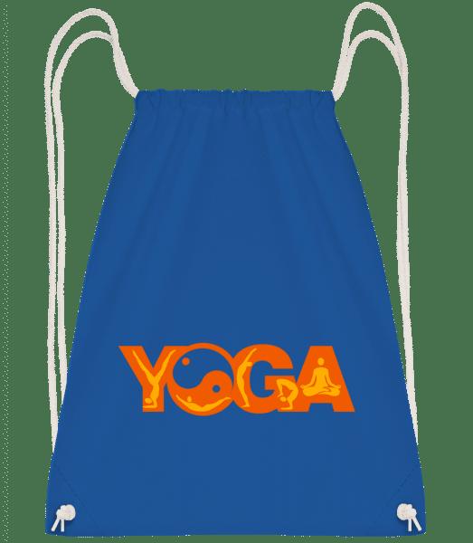 Yoga Sign Orange - Drawstring Backpack - Royal blue - Vorn