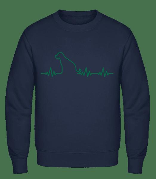 Heartbeat Dog - Classic Set-In Sweatshirt - Navy - Vorn