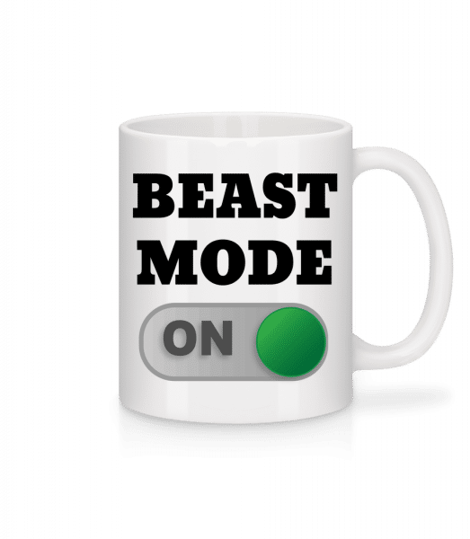Beast Mode On - Mug - White - Vorn