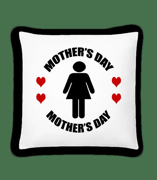 Mother's Day Logo - Kissen - Weiß - Vorn