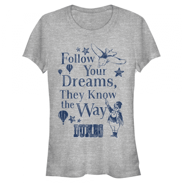 Follow Dreams - Disney Dumbo - Women's T-Shirt - Heather grey - Front