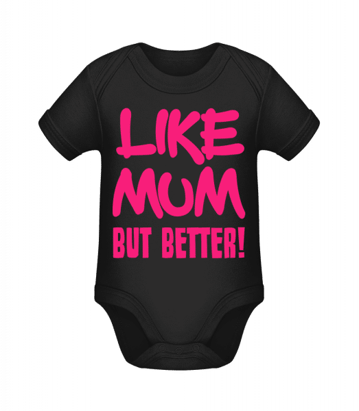 Like Mum, But Better! - Organic Baby Body - Black - Vorn
