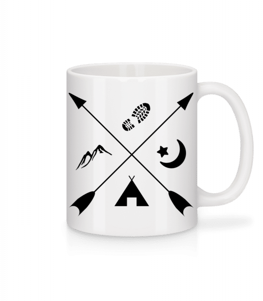 Hipster Pfeile - Tasse - Weiß - Vorn