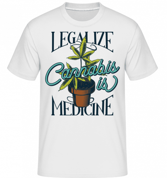Canabis Is Medicine -  Shirtinator Men's T-Shirt - White - Front