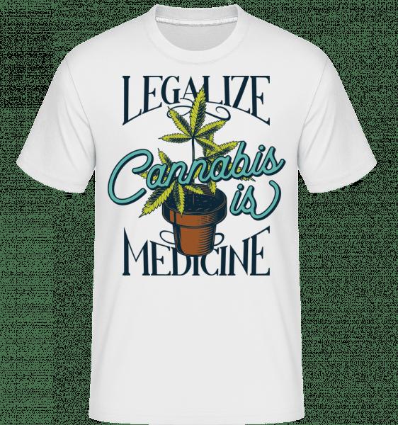 Canabis Is Medicine -  Shirtinator Men's T-Shirt - White - Vorn