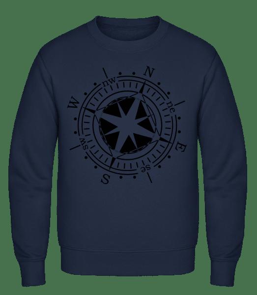 Compass - Classic Set-In Sweatshirt - Navy - Vorn