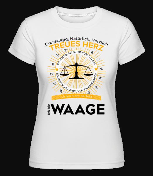 Sternzeichen Waage - Shirtinator Frauen T-Shirt - Weiß - Vorn