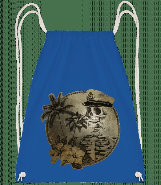 Sailors Death - Drawstring Backpack - Royal blue - Vorn