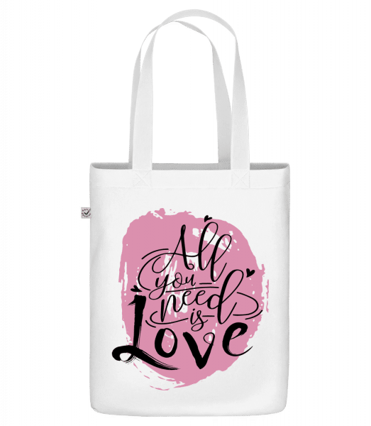 All You Need Is Love - Sac en toile bio Earth Positive - Blanc - Devant