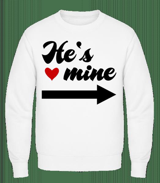 He's Mine - Classic Set-In Sweatshirt - White - Vorn