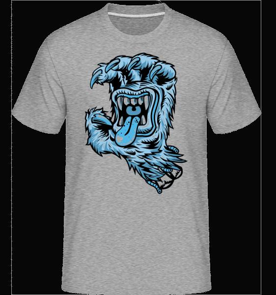 Yeti Hand Mouth -  Shirtinator Men's T-Shirt - Heather grey - Vorn