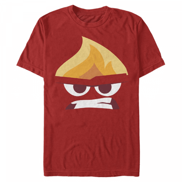 Angry Face Anger - Pixar Inside Out - Men's T-Shirt - Red - Front