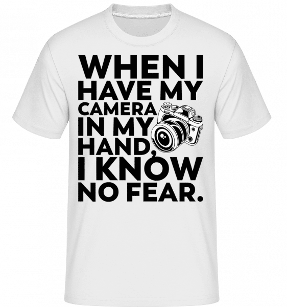 When I Have My Camera In My Hand -  Shirtinator Men's T-Shirt - White - Vorn