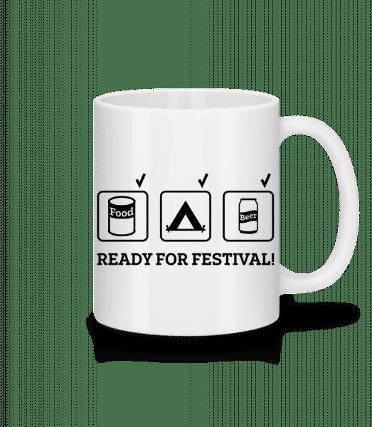 Ready For Festival - Mug - White - Vorn