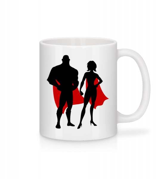 Superheroes With Cape - Mug - White - Vorn