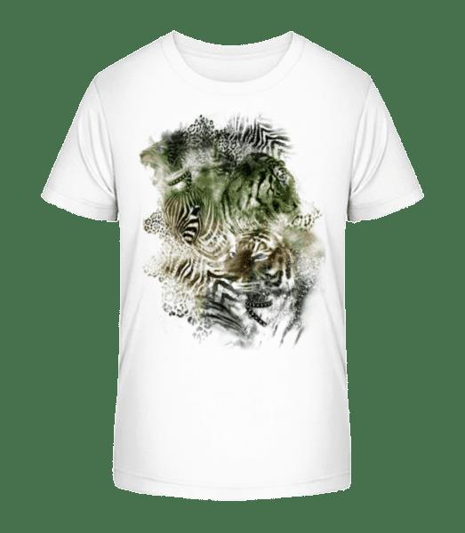 Big Cats Pack - Kid's Premium Bio T-Shirt - White - Vorn
