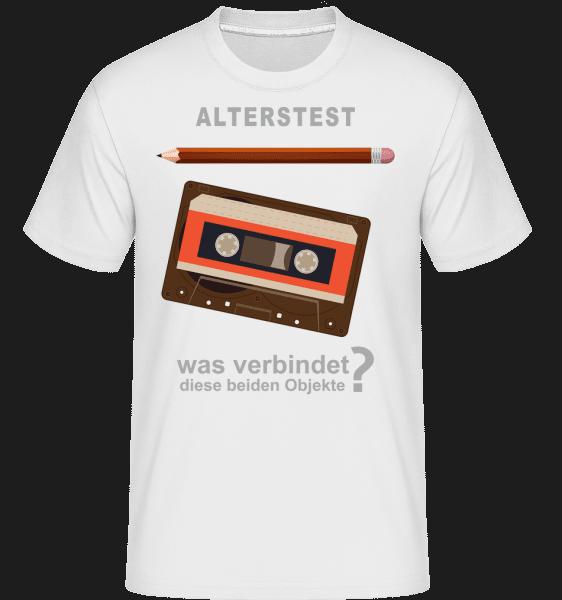 Alterstest Kasette Und Stift - Shirtinator Männer T-Shirt - Weiß - Vorn