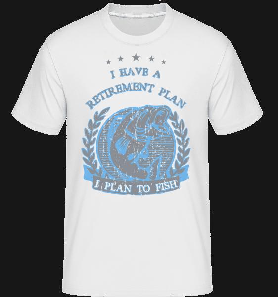 Retirement Plan Fishing -  Shirtinator Men's T-Shirt - White - Vorn